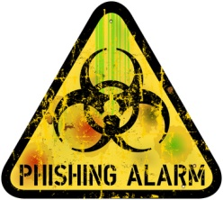 phishing alert sign, vector illustration