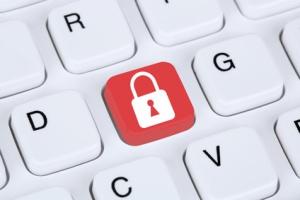 Computer Sicherheit im Internet Schloss Symbol sicher surfen im Internet