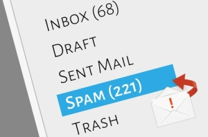 mail box menu with selected spam folder