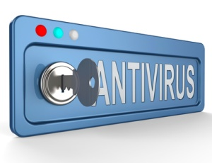 Online Antivirus Lock And Key Indicates Digital Virus 3d Illustration
